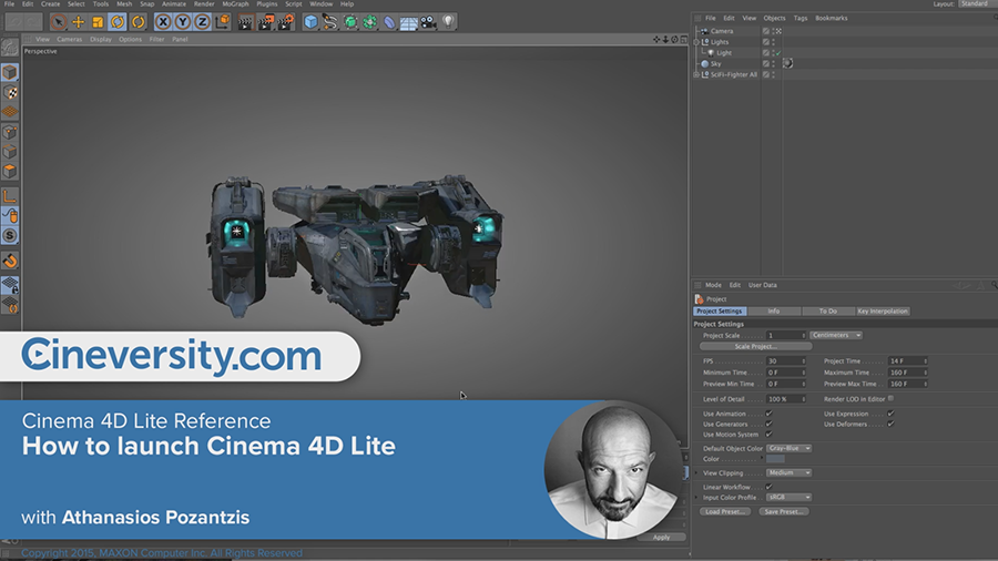 Cinema 4D Lite Reference: How to launch Cinema 4D Lite