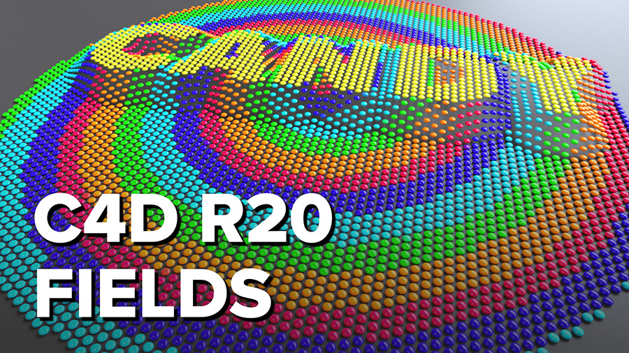 New in Cinema 4D R20: Use Fields to Control the Strength of MoGraph Effects