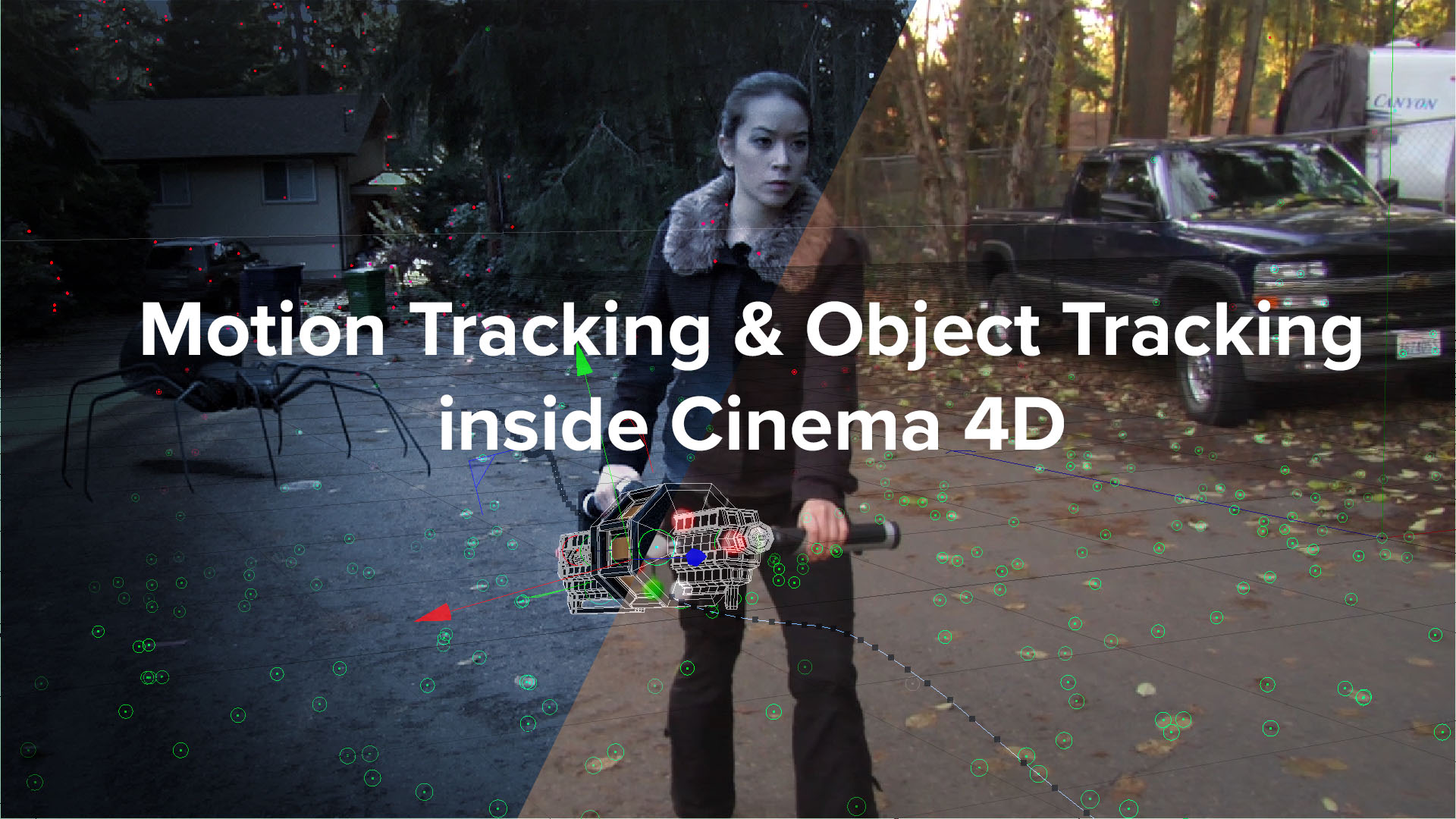 Motion Tracking & Object Tracking inside Cinema 4D