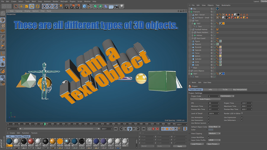 Cinema 4D Lite Reference: Adding Objects to Scenes