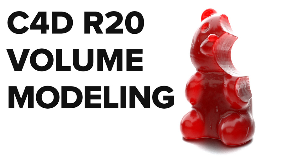 New in Cinema 4D R20: Create Complex Organic Models from Simple Shapes with  Volume Modeling