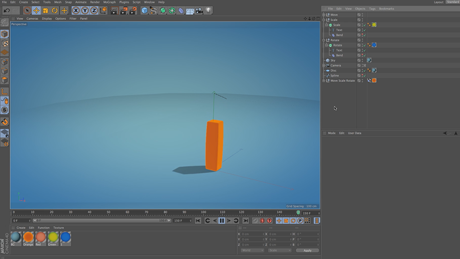 Cinema 4D Lite Reference: How to Move, Scale and Rotate Objects