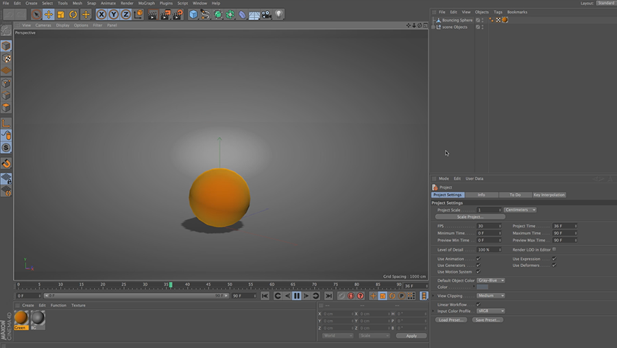 Cinema 4D Lite Reference: Simple Keyframe Animation
