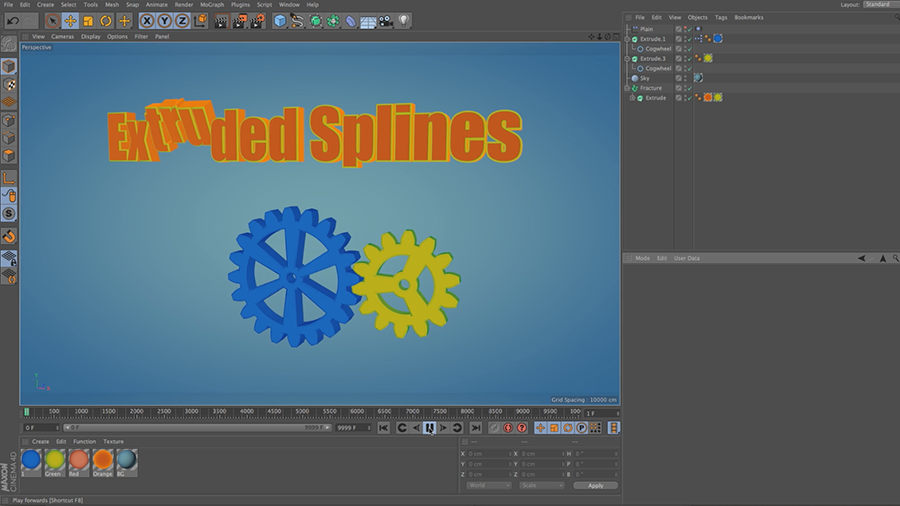 Cinema 4D Lite Reference: Extruding Text and Primitive Splines