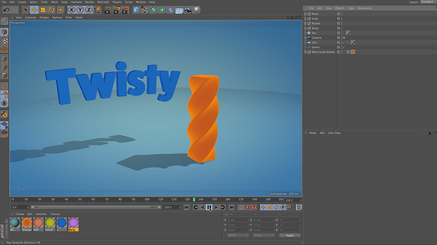 Cinema 4D Lite Reference: How to Twist, Bend, and Blow Up Objects with Deformers