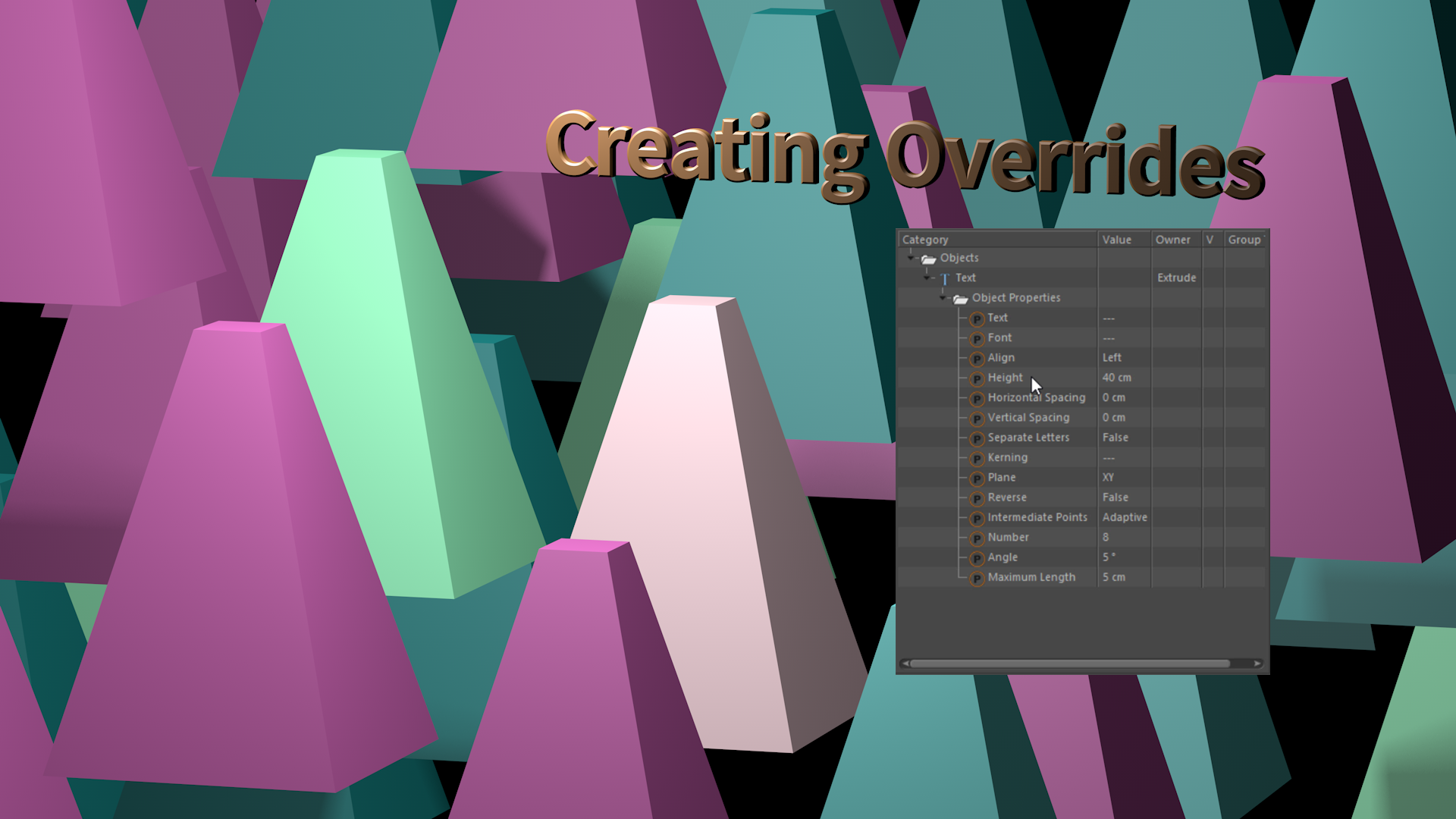 4 Ways to Create Overrides in the Cinema 4D R17 Take System
