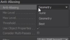 Render Settings: Anti-aliasing