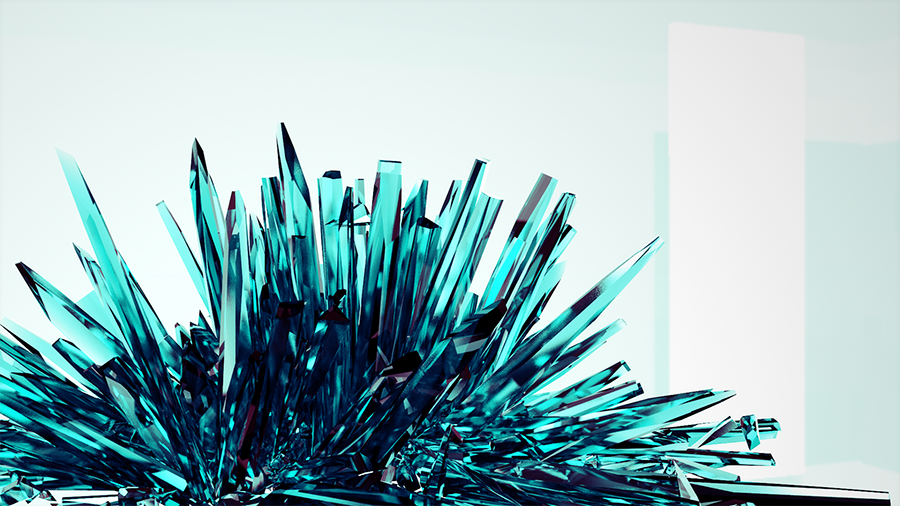 modeling crystal shards with voronoi fracture and mograph selections