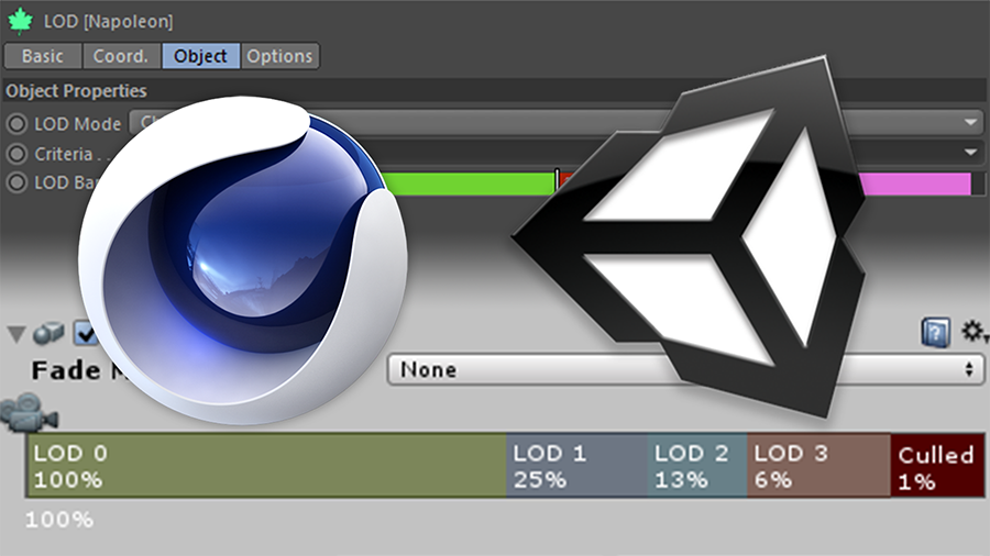 Use FBX to Export LODs from Cinema 4D to Unity