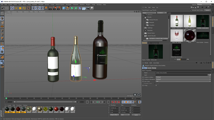Texturing and Rendering a Wine Bottle: Using Content Browser Presets to Speed up Production
